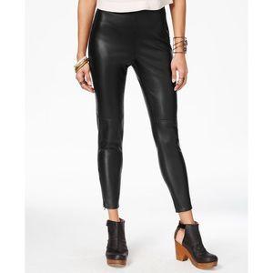 Free People black faux leather skinny pants 2